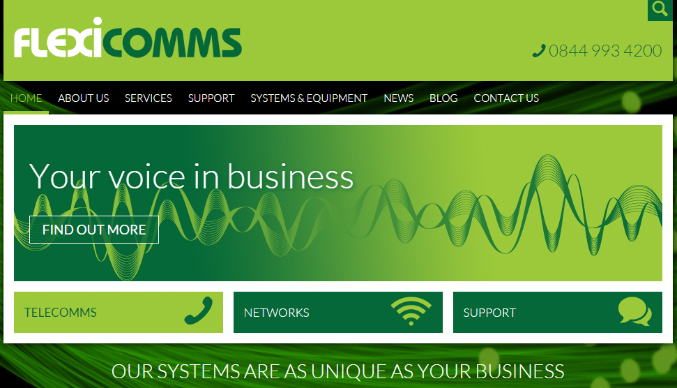 Flexicomms Website