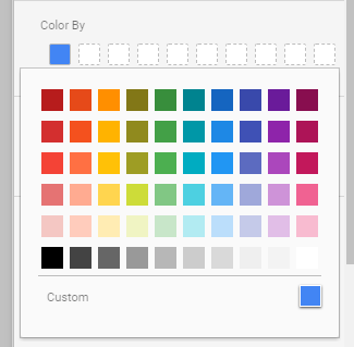 select your chart colour - Format your Google Data Studio reports