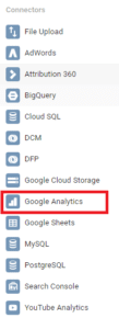 Data sources - set up a basic report in Google Data Studio