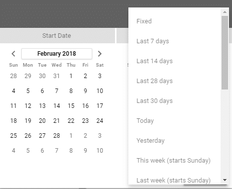 insert preset date range - set up a basic report in Google Data Studio